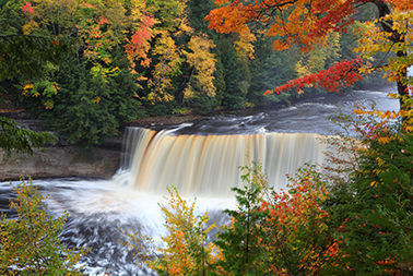 Tahquamenon Falls in the Fall
